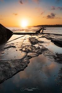 Miroir d'eau au lever du soleil
