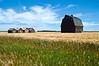 Barns Southeast of LaGlace Alberta 1986<br /> Olympus OM-2 35-105<br /> Kodachrome 25