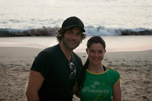 Simon and Marie-Helene on the beach at La Luna