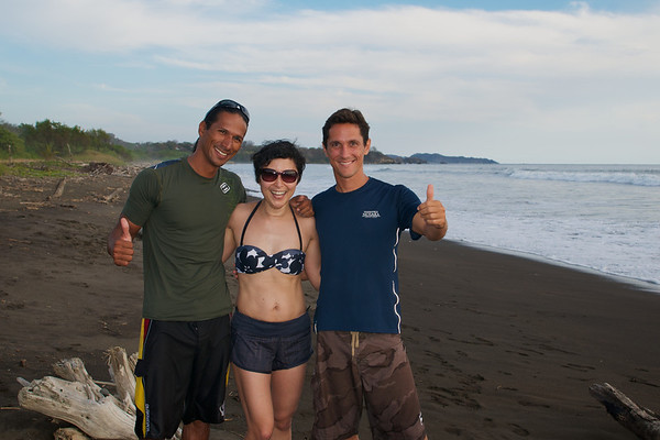 Me and our awesome guides Alan and Filippe