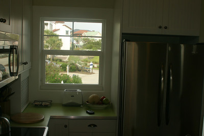 2nd floor kitchen- view out window