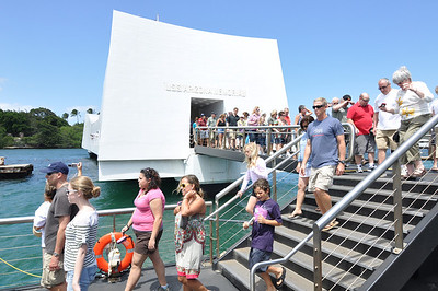 Exiting the U.S.S. Arizona Memorial