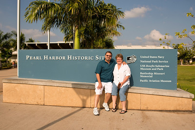 "Susie and I ""sitting"" at the Pearl Harbor Historic ""Sit(es)."
