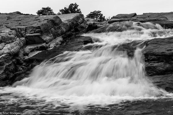 Pedernales Falls 2015 - B&W