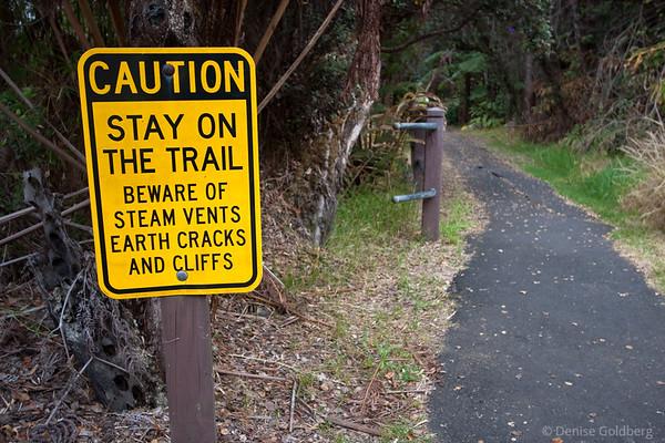 Signs, warnings