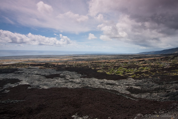 heading to the sea, patterned lava flows, hawaii volcanoes national park
