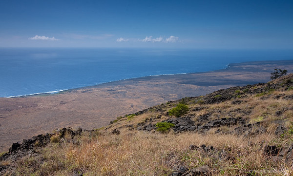 from the end of the road to Hilina Pali, hawaii volcanoes national park