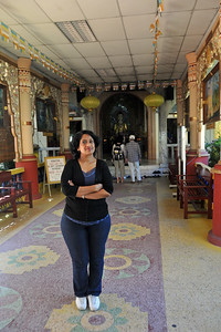 Anu (Arundhathi) at Tapak Sejarah, a buddhist burmese temple. It has been identified as one of the fifteen historical sites. George Town, Penang, Malaysia.