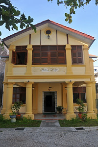 Anu booked through Hostelworld.com a nice place called Hutton Lodge in George Town, Penang, Malaysia.  http://www.huttonlodge.com/