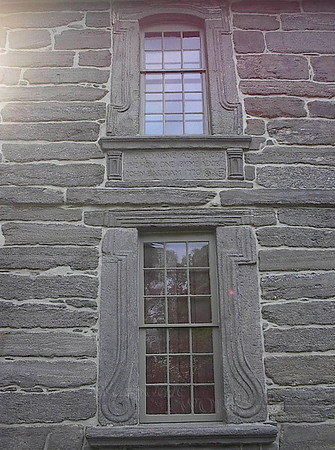 Windows on Bartram's House, an historical landmark in PA