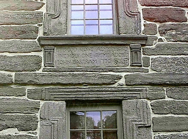 Close-up of Windows on Bartram's House