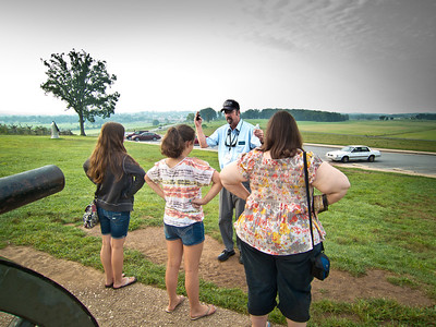 Guide Demonstrates Battle Formations at Gettysburg
