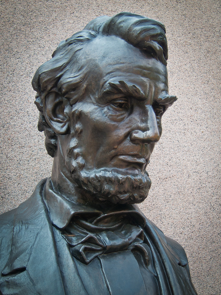 Bust of Abraham Lincoln National Cemetary in Gettysburg