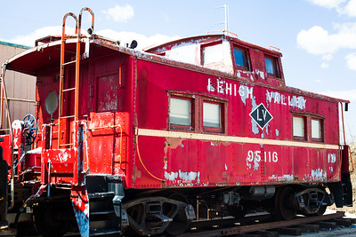Red Caboose in the Train Yard Tour,, Reading Railroad Heritage Museum, Hamburg, PA