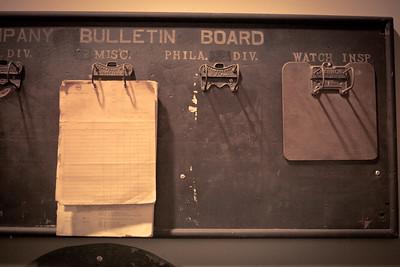 Bulletin Board, Reading Railroad Heritage Museum, Hamburg, PA