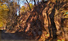 Rocky formations along Perkiomen Trail