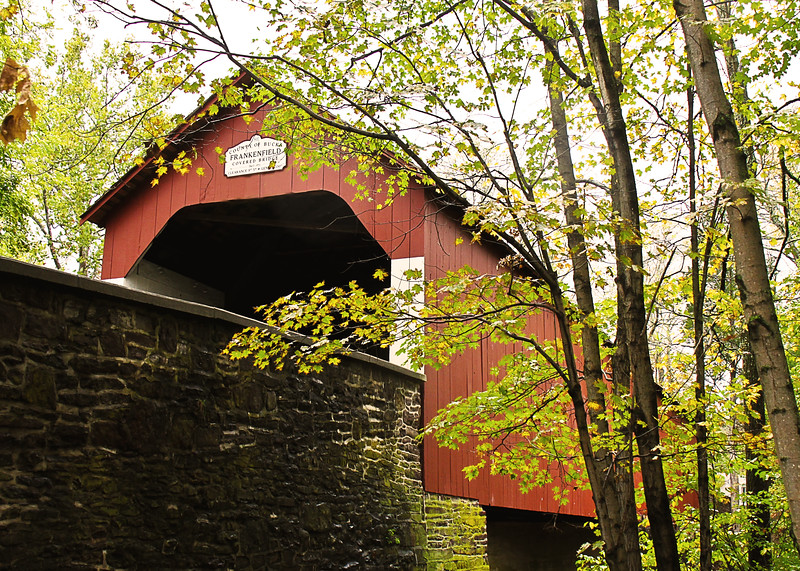 Frankenfield Covered Bridge Bucks County Covered Bridge