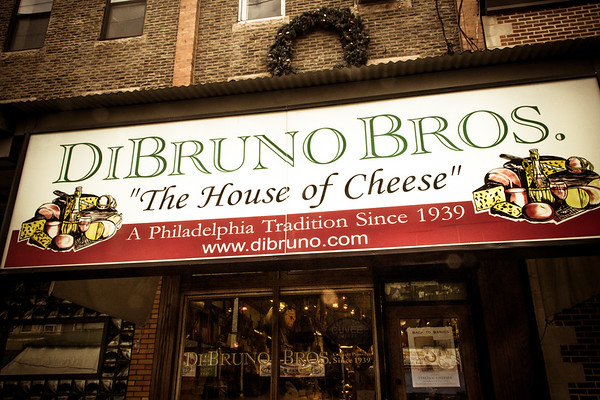 Di Bruno Bros. shop in the Italian Market, Philadelphia, PA. © 2012 Joanne Milne Sosangelis. All rights reserved.