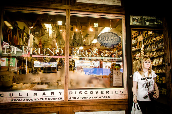 Di Bruno Bros. shop in the Italian Market, Philadelphia, PA. © 2012 Joanne Milne Sosangelis. All rights reserved.