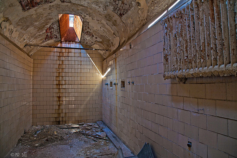 Shower in Cell Block @ Eastern State Penitentary in Philadelphia, Pa