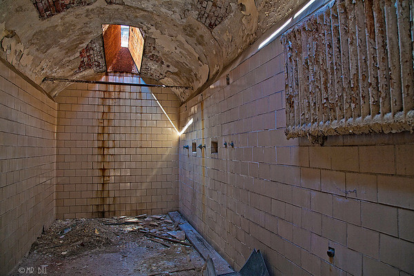 Shower in Cell Block @ Eastern State Penitentary in Philadelphia, Pa