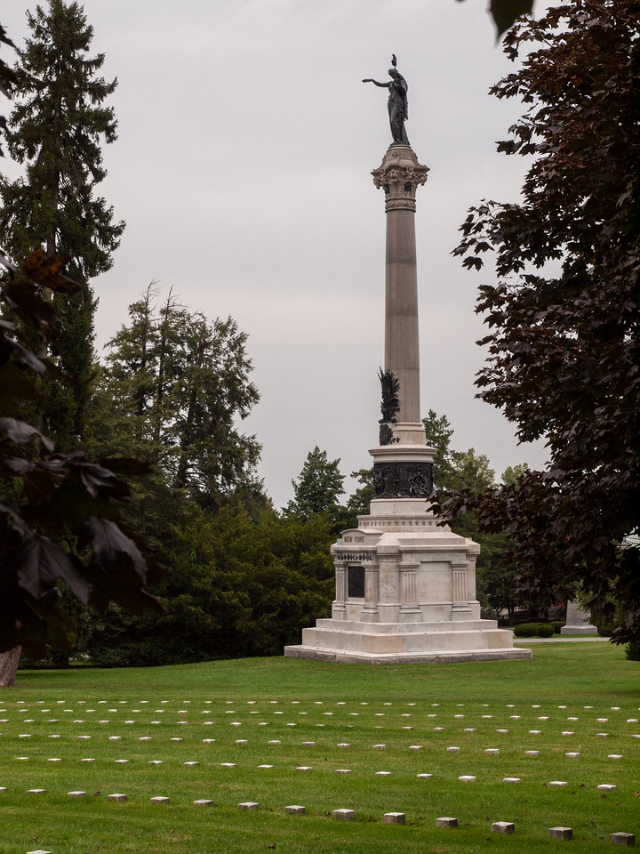 The New York State Monument in Gettysburg National Cemetery.