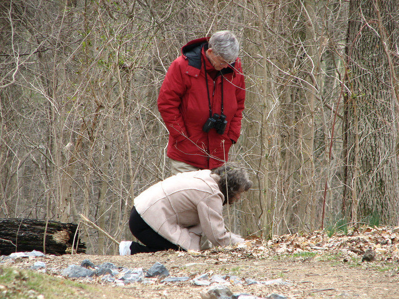 Randal and Carolyn Looking at Wildflowers - Lancaster County Central Park