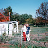 Louise and Donna in Garden - Amish Farm and House - Lancaster, PA  10-20-98