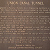 Signage - Northern Section of Union Canal Tunnel Park - Lebanon, PA