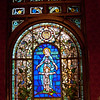 Staircase Stained glass added by St Mary's Villa. , St. Mary's Villa, Lindenwald Castle in Ambler, PA