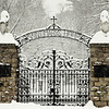 Entrance gate to St. Mary's Villa, Lindenwald Castle in Ambler, PA