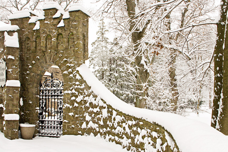 Entrance to St. Mary's Villa, Lindenwald Castle in Ambler, PA