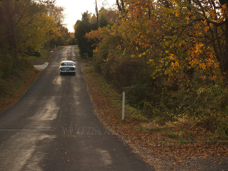 Vintage car on autumn day near Hellertown