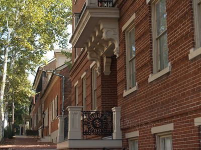 Facade of Moravian College Buildings, Bethlehem, PA