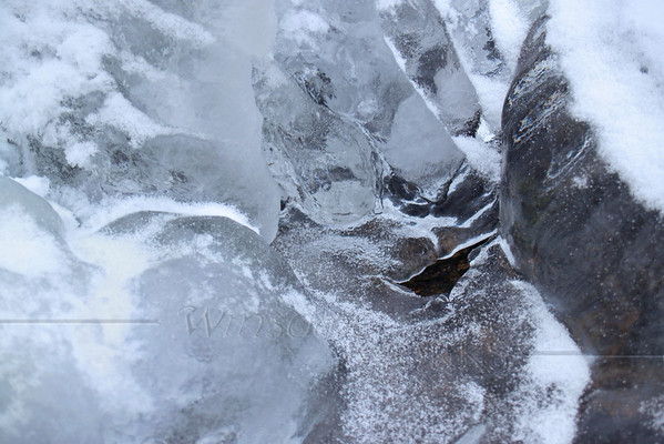 (5) Detail of Sculptural Ice in Nature-- creek scene, Canadensis, PA (Spruce Lake Retreat)