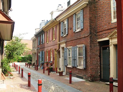 Elfreths Alley - Philadelphia - Pennsylvania - USA