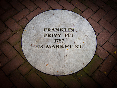 Ben Franklin's Privy Pit - Since all garbage was thrown here, a great source of archeological information, albeit gross.
