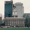 Independence Hall and Congress Hall - Philadelphia, PA  3-30-92<br /> Looking from Liberty Bell Pavillion.