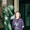 """Donna at Sculpture Called """"Eve"""" - Rodin Museum - Philadelphia, PA  9-5-99"""