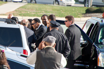 Muhammad Ali making his way into the church.
