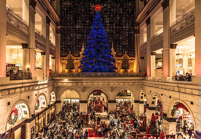 Spectators at the Macy's Light Show