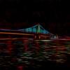 Ben Franklin Bridge at Night, Abstract