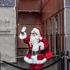 Santa at the Comcast Center in Philadelphia at Christmastime.