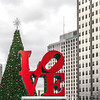 Love Park in Philadelphia at Christmastime.