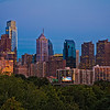 Downtown Philadelphia at night