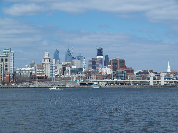 Philadelphia skyline seen from Camden
