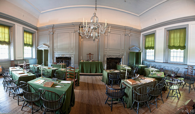 Room where Declaration of Independance was signed @ Independance Hall, Philadelphia
