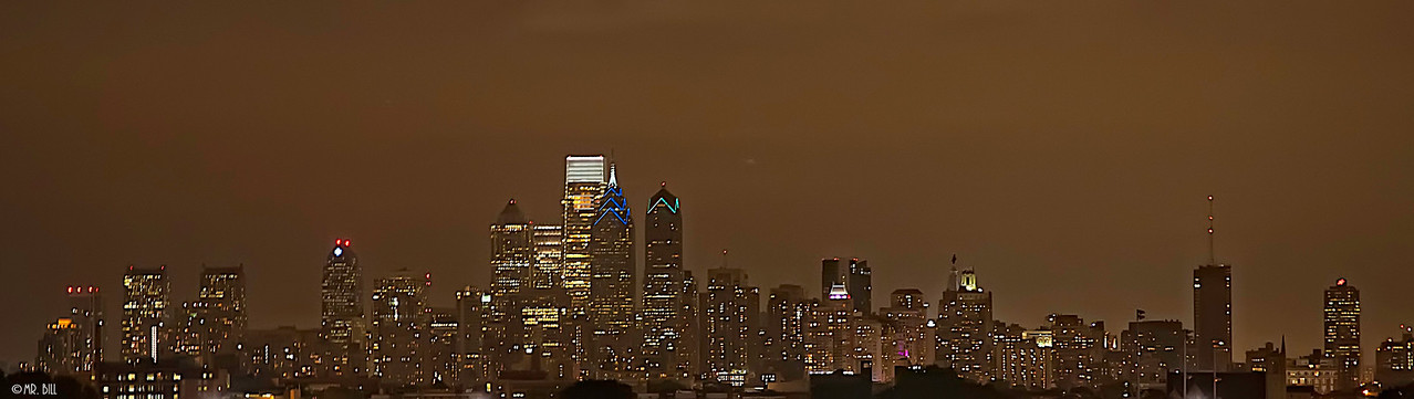 Downtown Philadelphia at night