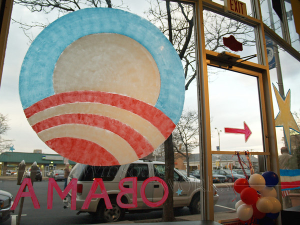 From inside the Quakertown, PA Obama Office, 2008