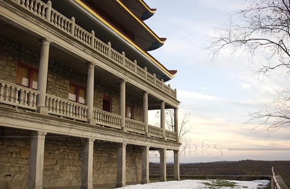 Reading Pagoda from hillside